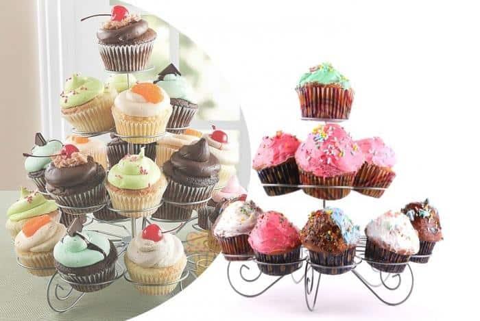 espositore di muffin per feste di compleanno