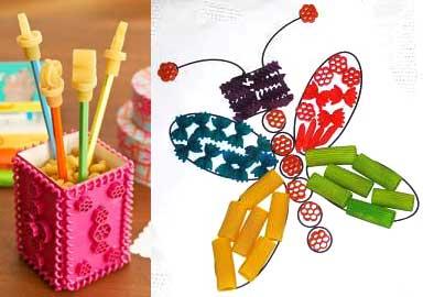 laboratori creativi per bambini con la pasta