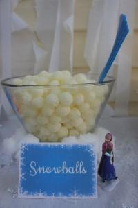 patatine per festa di compleanno a tema Frozen