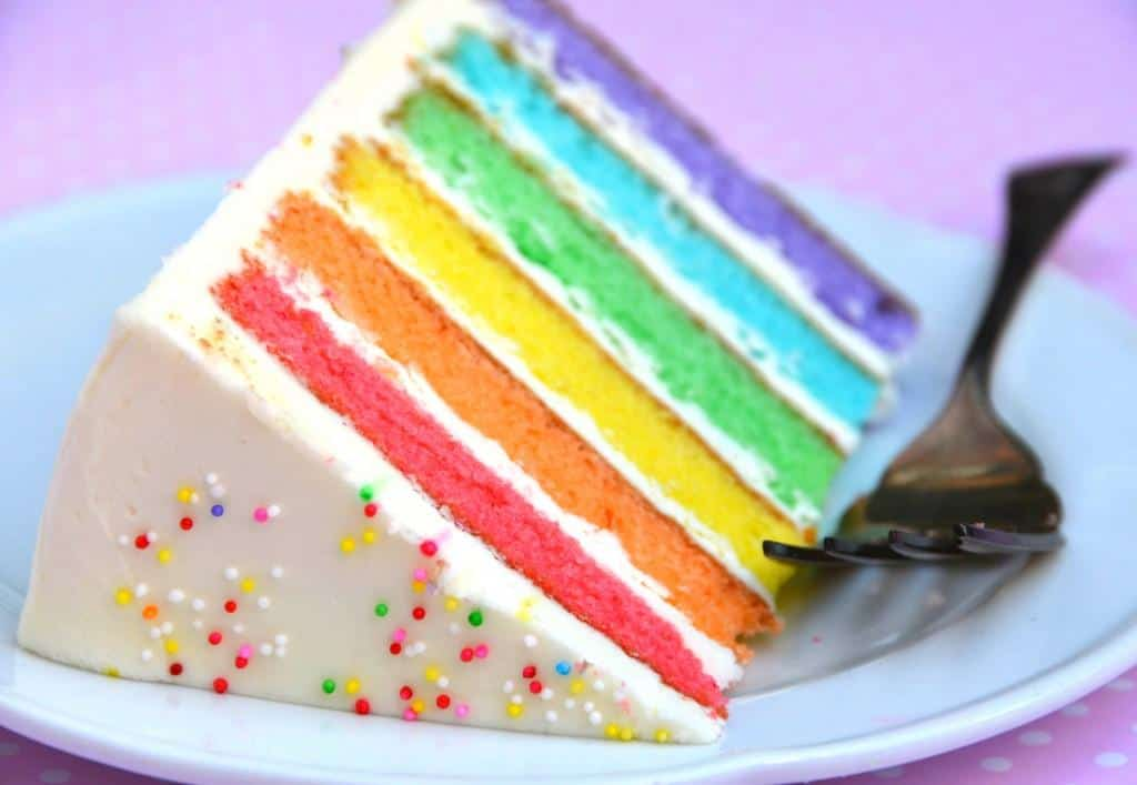 torta arcobaleno per feste di compleanno bambini