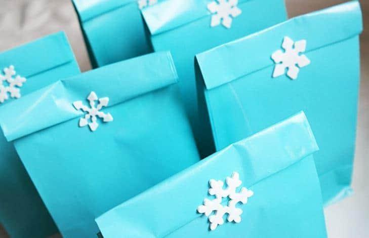 party bag per festa di compleanno a tema frozen