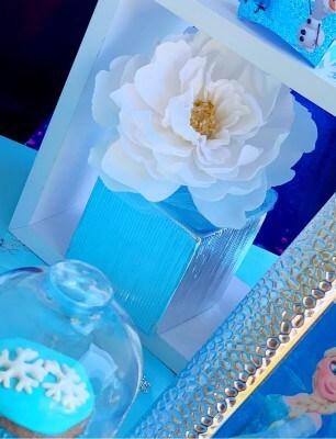 Festa a tema Frozen: i fiori come allestimento