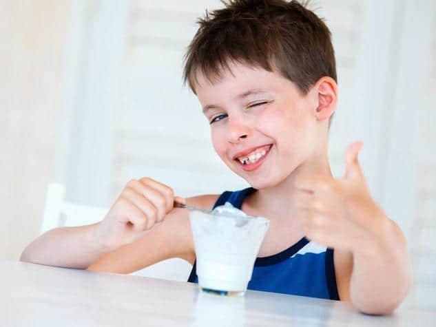 yogurt e fermenti per la merenda dei bambini