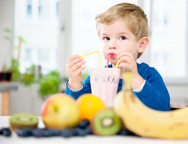 frullati per la colazione dei bambini