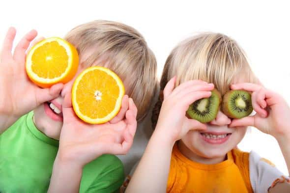 frutta per la colazione dei bambini