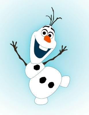 Sagoma di Olaf da stampare.