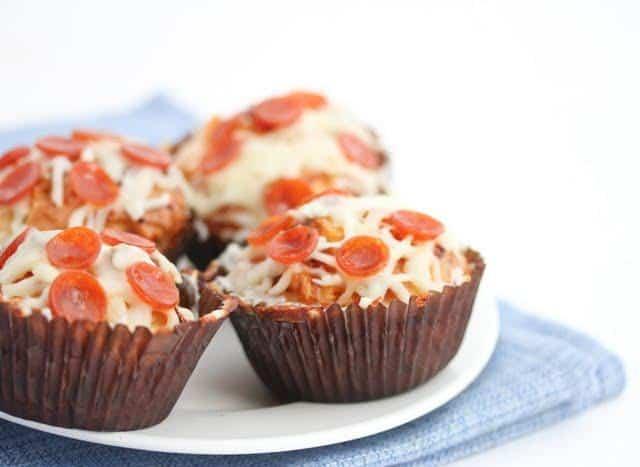 ricetta dei muffin al gusto di pizza