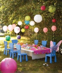 allestimento festa in giardino