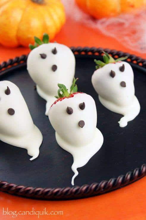 fragole fantasma a tema halloween