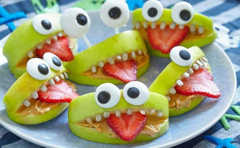 mostri di frutta a tema halloween