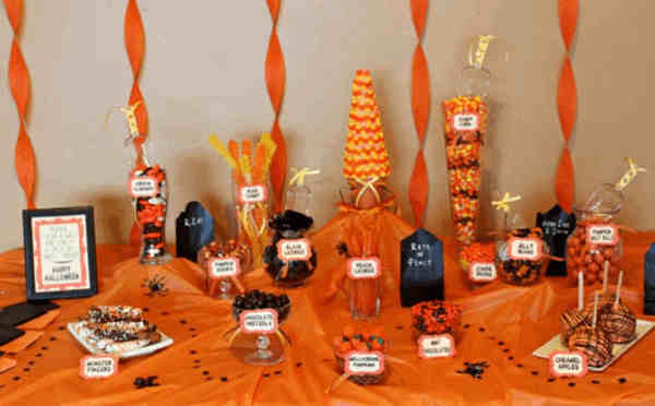 buffet di candy per halloween