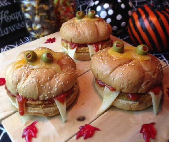 hamburger a tema halloween