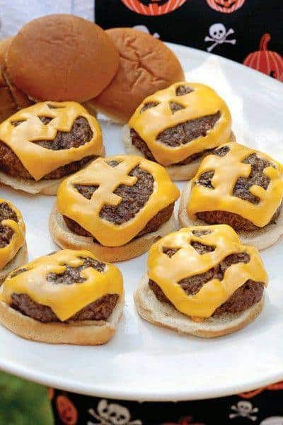 Mini burger a tema halloween