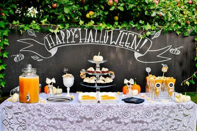 un buffet a tema halloween