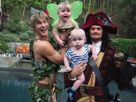 Costumi famiglia Peter Pan