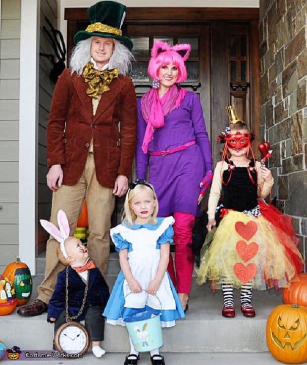 Costumi Carnevale Alice nel Paese delle Meraviglie Per la famiglia