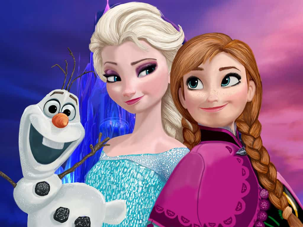 Personaggi Frozen Anna, Elsa, Olaf