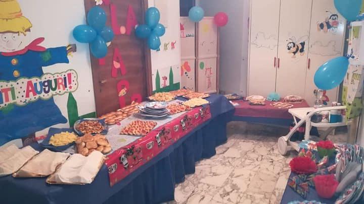 location sala feste roma centro asilo nido scarabocchiando buffet