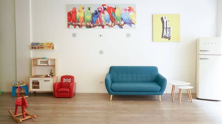 location sala feste roma est jungle joy divano