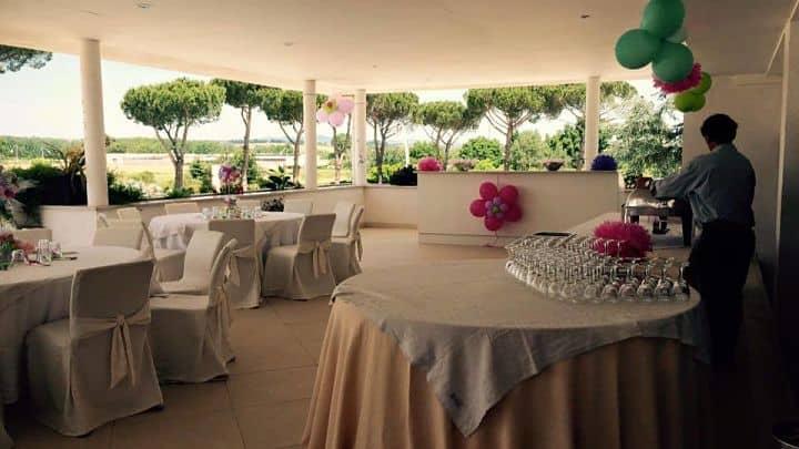 location sala feste roma nord salaria sport village terrazza