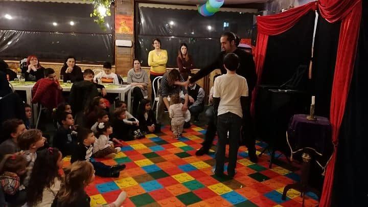location sala feste roma roma sud Ristorante Biologico show di magia
