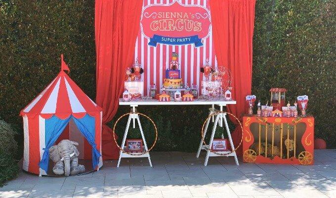 Festa a tema circo