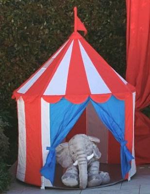 Tenda da circo con animali.