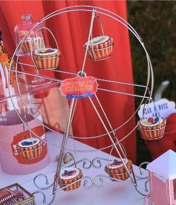Ruota panoramica per il tuo tavolo buffet a tema circo