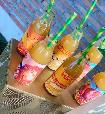 Succhi di frutta per bambini personalizzati.