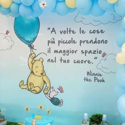 Festa a tema Winnie the Pooh: il fondale