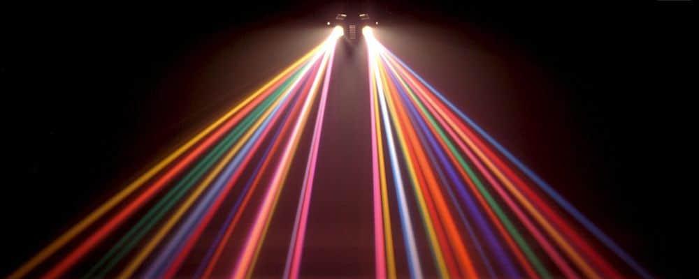 effetti luce per una festa mini disco