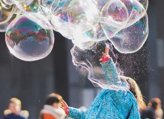 Festa a tema bolle di sapone