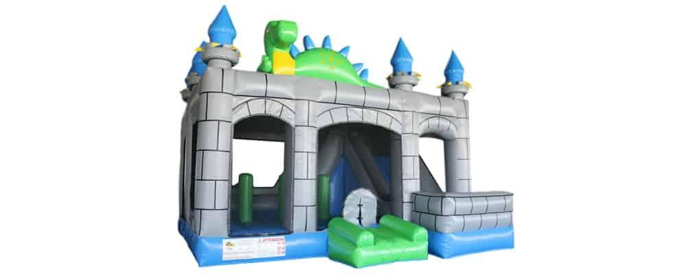 installazione del gonfiabile castello del drago