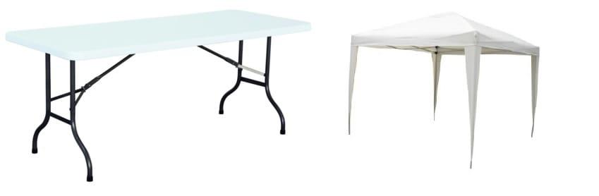 tavolo catering e gazebo