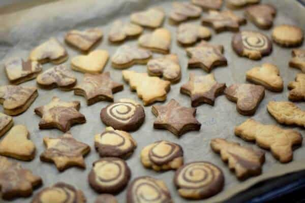 Biscotti  a forma di stelle per buffet feste di compleanno