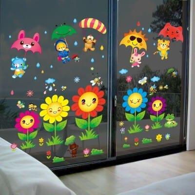 Lavoretti di primavera: decorazioni per finestre
