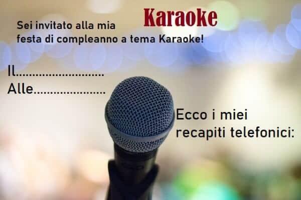 Invito a tema Karaoke per feste a tema