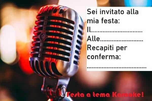 Inviti feste a tema karaoke per bambini